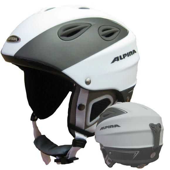 alpina skihelm grap weiss anthrazit matt gr 61 64 cm auslaufmodell ebay. Black Bedroom Furniture Sets. Home Design Ideas