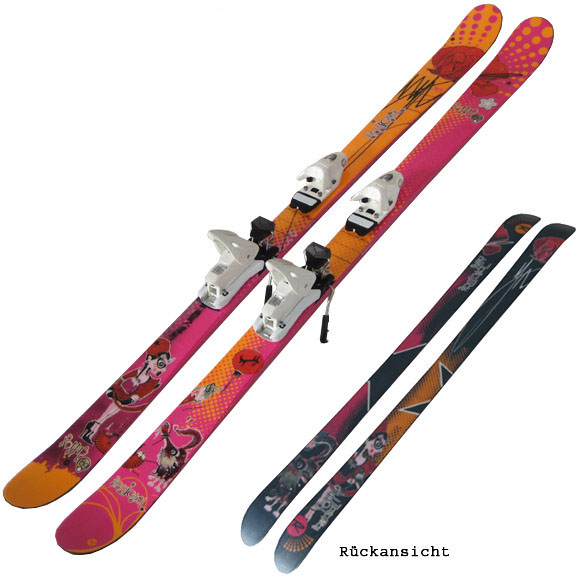 rossignol lady freestyle skiset poppy 80 158 cm. Black Bedroom Furniture Sets. Home Design Ideas